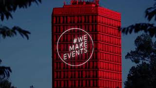 #wemakeevents #LightItInRed #Cheltenham