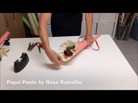 Wrap a rose with tissue paper #wrapflowers