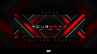 Free Gfx: Free Photoshop Twitter Header Template: Clean Gaming Style Banner-header Design  2019