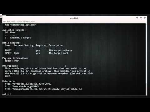 Metasploit for Network Security Tutorial - 6 - Payloads and Backdoors