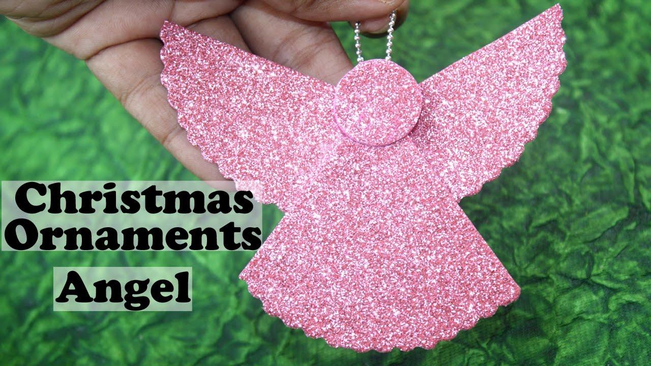 diy christmas angel christmas decorations christmas tree decoration youtube - Angel Christmas Tree Ornaments