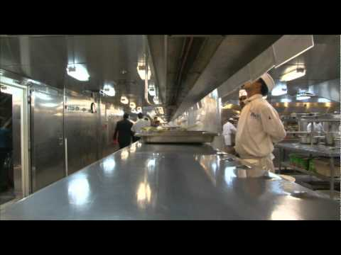 Yes Chef The Cruise Ship Kitchen On Pacific Dawn YouTube - Cruise ship kitchen