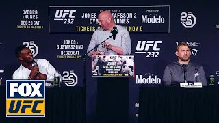 The best moments from the UFC 232 press conference | UFC 232