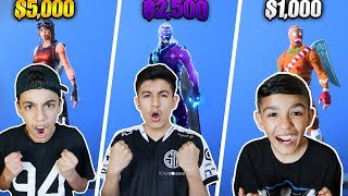 Fortnite Skin Wars With Brothers! Our INSANELY RARE Fortnite Skin Collection!