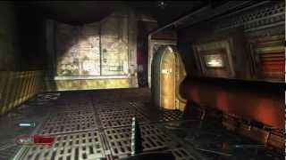 22 Doom 3 BFG Nightmare Walkthrough HD PS3 (Monorail Skybridge 2/2)