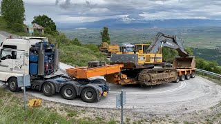 Transporting The Volvo EC650 Excavator And The Caterpillar 235 - Fasoulas Heavy Transports