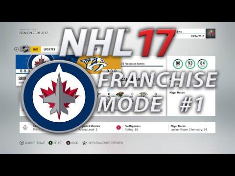 NHL 17 Winnipeg Jets Franchise Mode 1 | WE Run This Team