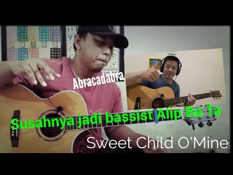 Mencoba jadi bassist Alip Ba Ta di lagu Sweet Child O'mine | GunRoses