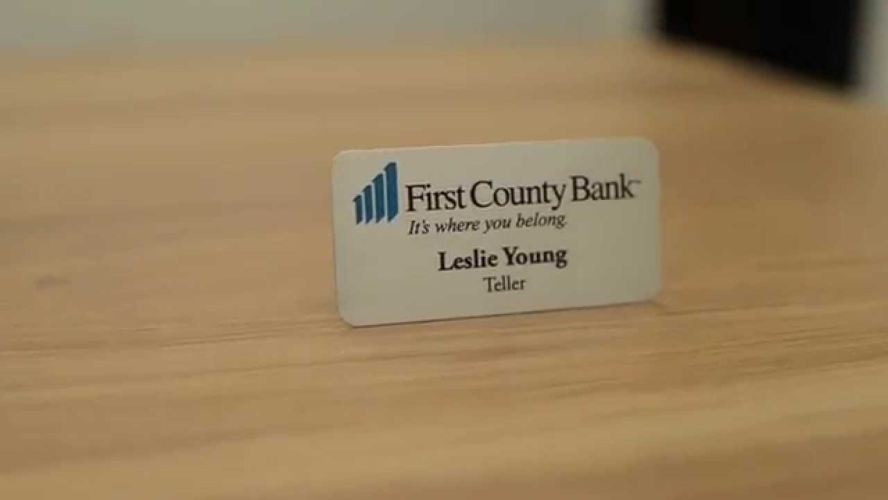 Personalized Bank Name Badge & Name Tag Examples - YouTube