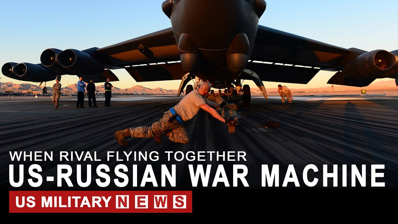 Rare Moments: US Bombers and Russian Fighter Jets Flying Together