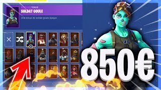 [FORTNITE] PRESENTATION OF MY VERY RARE FORTNITE CASIER! '75 SKINS !!!