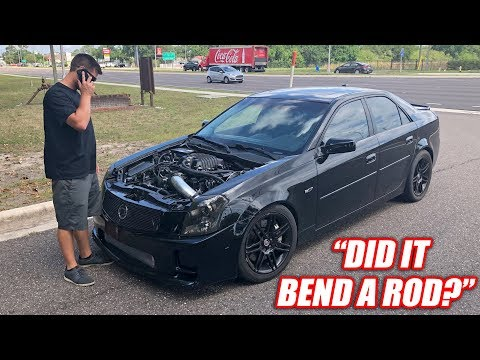 I Drove Cooper's CTS-V and Immediately Broke It... Badly