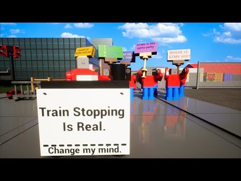 Can We Convince The People of Lego City That It is Possible To Stop The Lego Train in Brick Rigs?