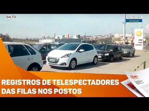 Registros de telespectadores das filas nos postos - TV SOROCABA/SBT