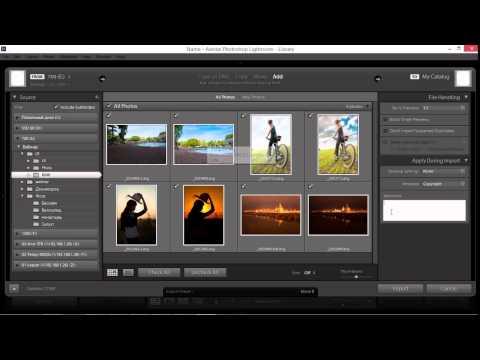 09 Узнайте как импортировать фотографии в лайтрум
