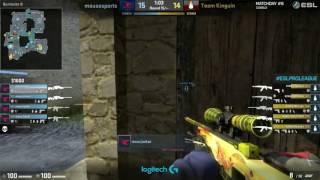 CSGO - ChrisJ gets quad kill with awp - Mousesports vs Kinguin - ESL Proleague 2017