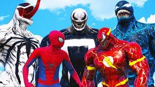AMAZING SPIDER-MAN vs TEAM VENOM (Venom-Ghost \u0026 Blue Venom \u0026 Venom-Flash \u0026 Anti-Venom)
