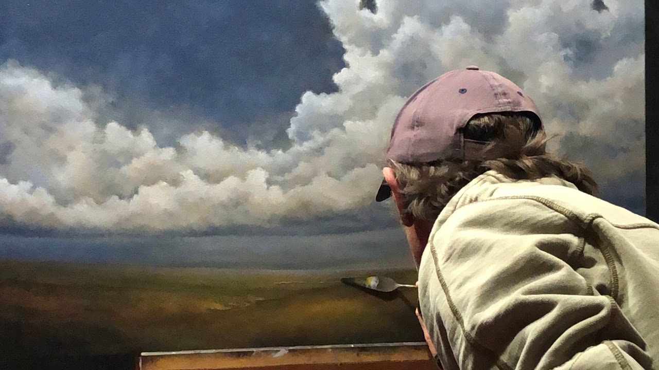 'Head In The Clouds' - Landscape Oil Painting by Nial Adams FRSA