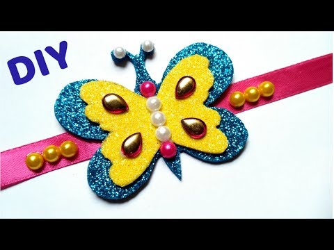 how to make Rakhi at home /DIY Butterfly rakhi /Rakshabandhan .