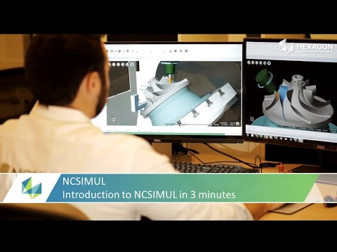 Introduction to NCSIMUL G-code Verification Software in 3 minutes.