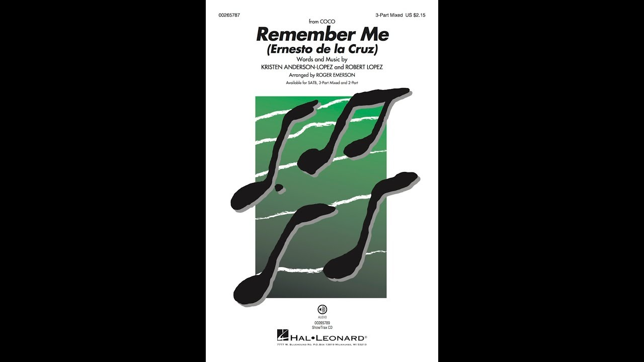 Remember Me - from Coco | Hal Leonard Online