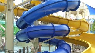 Wet 'n Wild Orlando - Blue Spiral Slide | Blastaway Beach Area