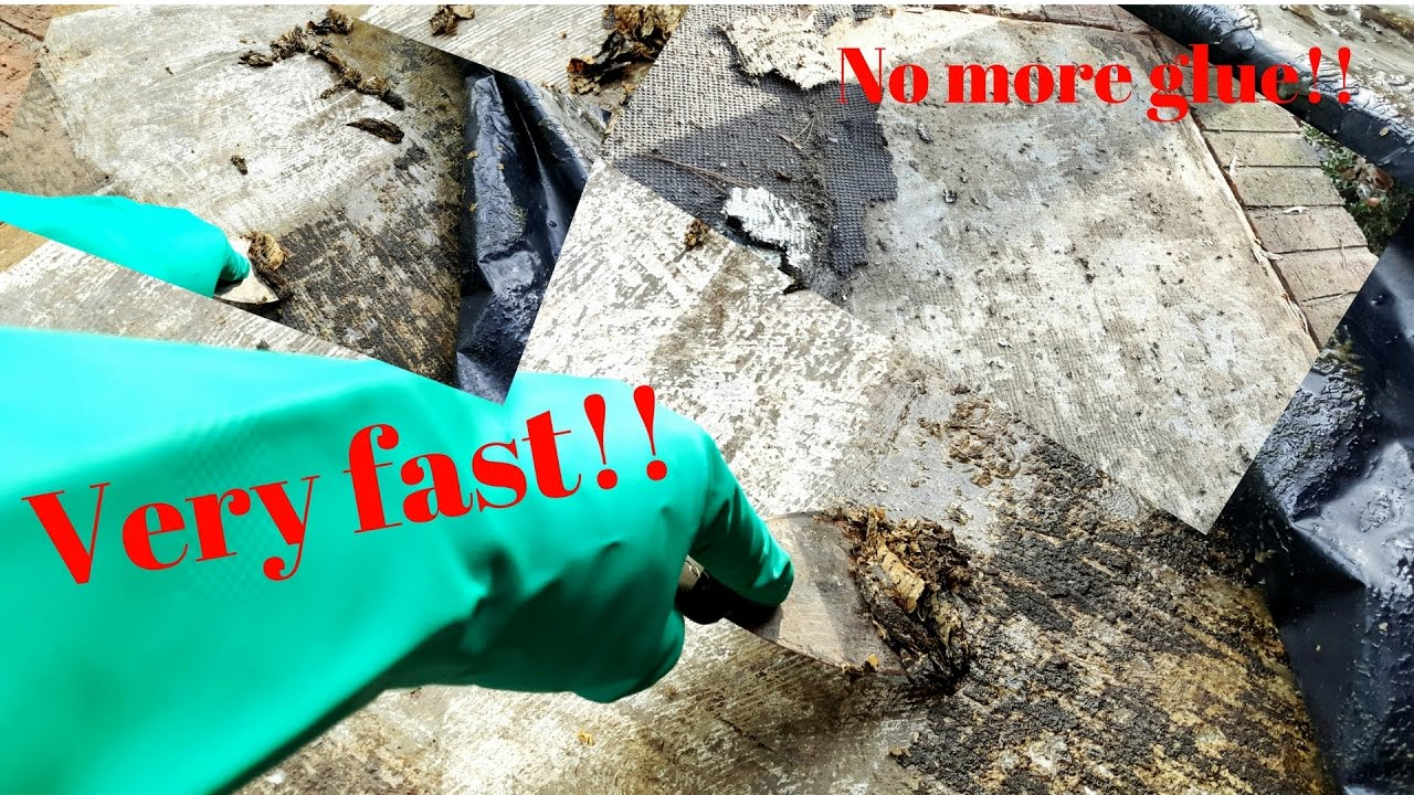 How To Remove Glue Or Mastic From Floors Or Walls Youtube