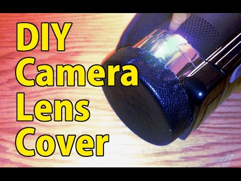 DIY How to make a camera lens cap, quick and free
