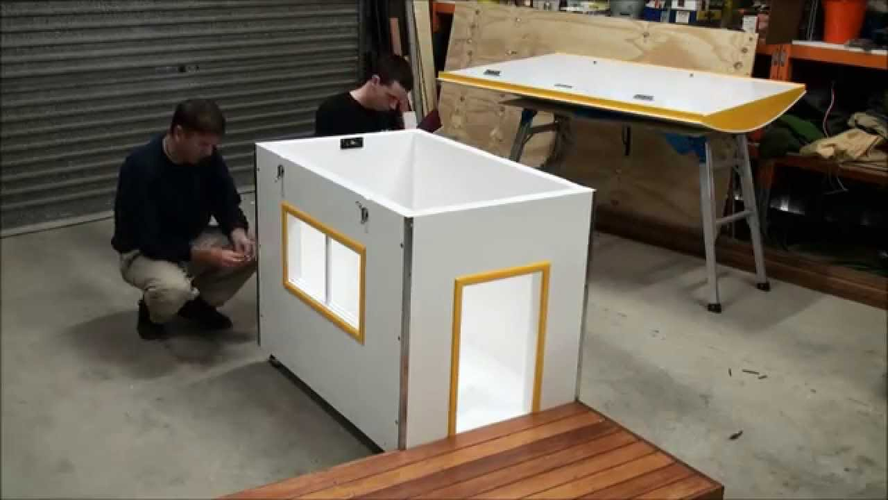 insulated dog house assembly video youtube