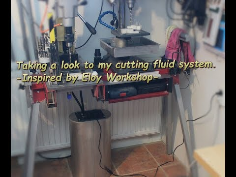 Cutting fluid system for drill press