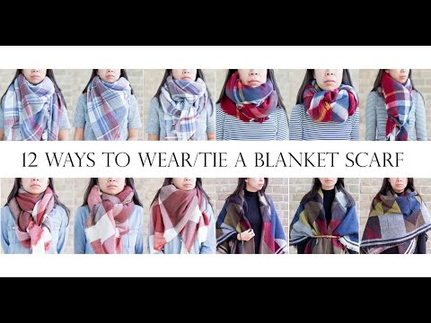 How To | 12 Ways to Wear/Tie a Blanket Scarf | MsLaBelleMel