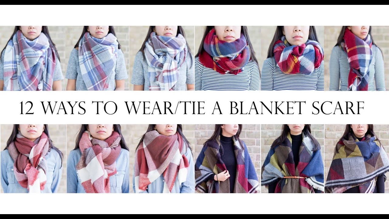 How to 12 ways to weartie a blanket scarf mslabellemel youtube ccuart Choice Image