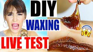 DIY WAXING LIVE TEST | SUGARING SELBER MACHEN | WACHSENTHAARUNG | NATÜRLICHE ZUTATEN | KINDOFROSY