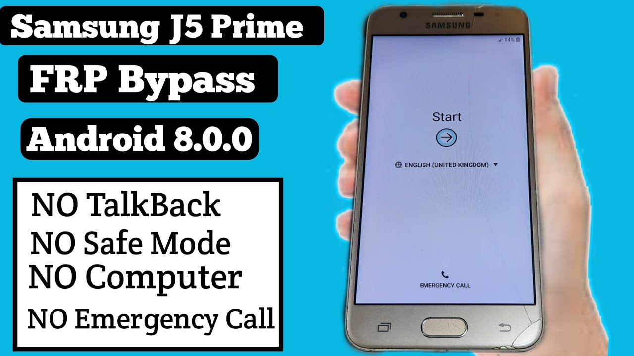 Frp Bypass Galaxy J5 Prime Android 8 / Unlock Google Account Frp Samsung J5/ New security