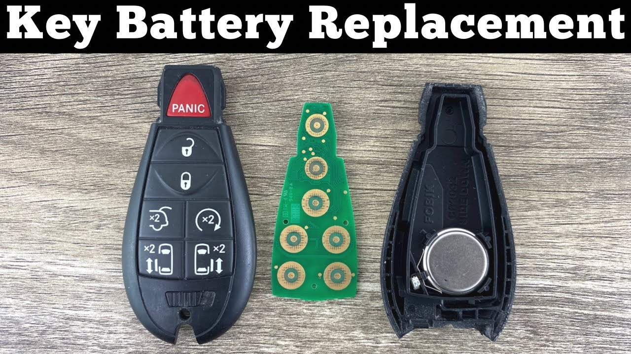 2008 - 2016 Town & Country Remote Key Fob Battery Change - How To Replace Chrysler Key Battery
