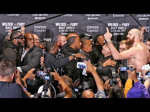 Tyson Fury vs Deontay Wilder FACE OFF EXPLODES! CRAZY CHAOS AGAIN!!!