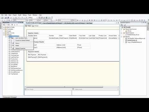 SSRS 2008 R2 -- Multiple Valued Parameter - YouTube