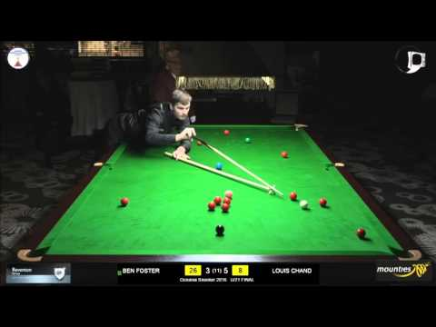 Frame 9 | Oceania Snooker 2016 U/21 Final | Ben Foster Vs Louis Chand