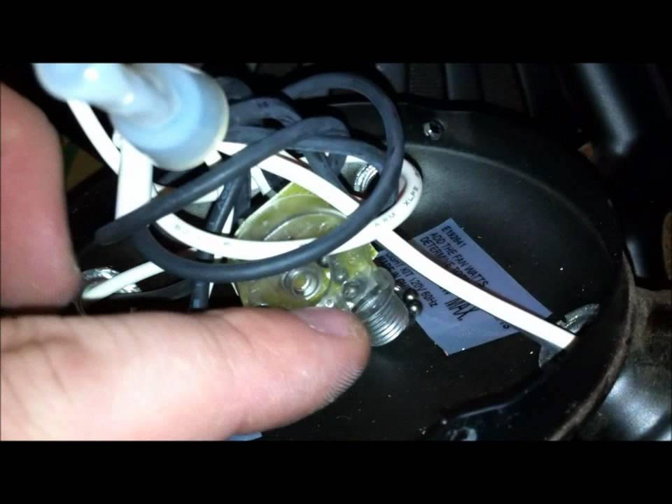 Harbor breeze fan flashing repaired youtube publicscrutiny Choice Image