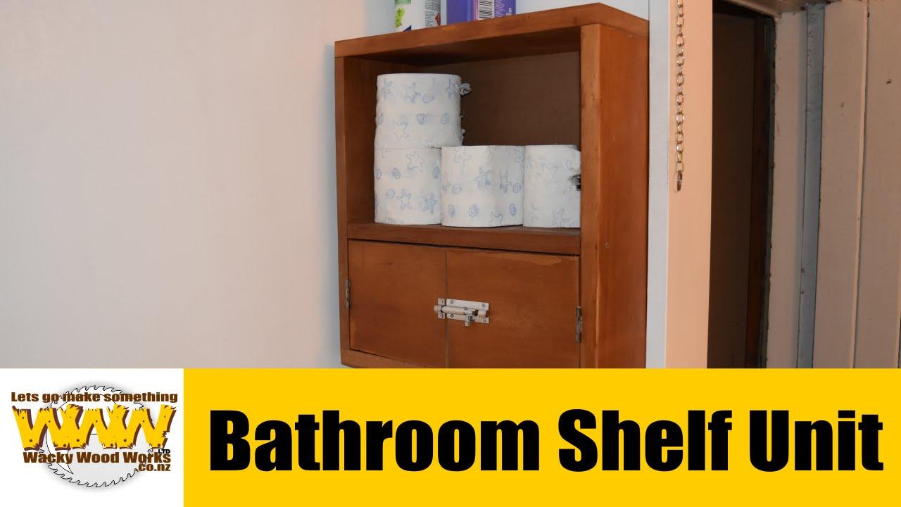 Bathroom Shelf Unit - Off the Cuff - Wacky Wood Works - YouTube