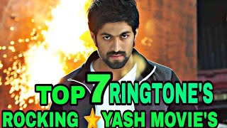 Top 7 Rocking star yash movie's famous ringtone subscribe