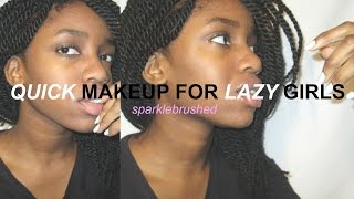 quick makeup for lazy girls