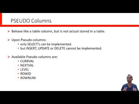 Pseudo Columns in Oracle