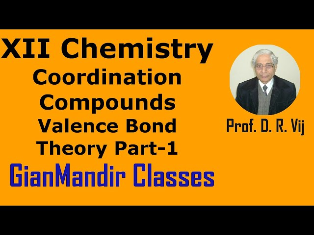 XII Chemistry | Coordination Compounds | Valence Bond Theory Part-1 by Gourav Sir