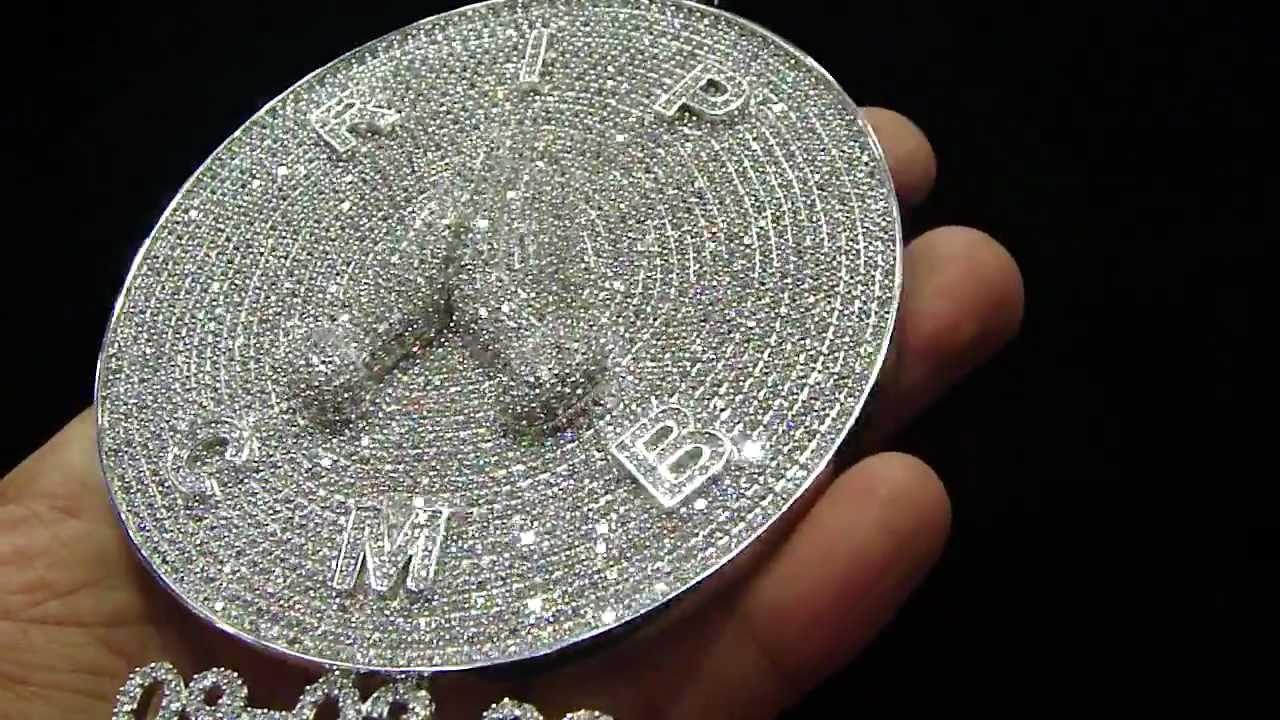 Mr chris da jeweler custom diamond pendant circle rip cmb video no mr chris da jeweler custom diamond pendant circle rip cmb video no cp4372 aloadofball Images
