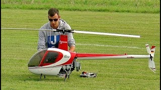Robinson R-22 Giant Vario Rc Scale Electric Model Helicopter Flight Demonstration