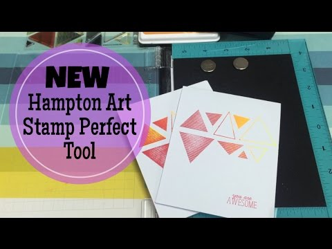 NEW Hampton Art Stamp Perfect DEMOREVIEW 1249 STAMP POSITIONER TOOL