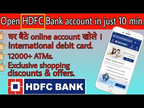 How to open HDFC Bank Account Online | without pancard | online saving  account opening | In hindi |