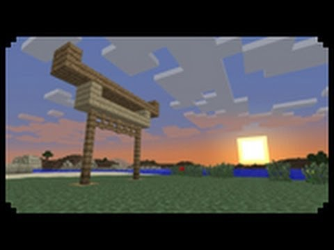 minecraft how to make a japanese gate torii