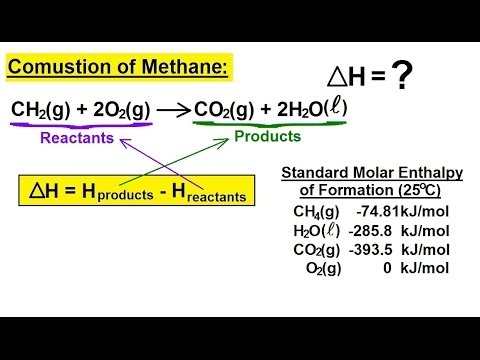 Chemistry - Thermochemistry (5 of 37) Enthalpy: Example 1 (Combustion of Methane)